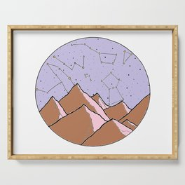 Constellation Mountains Serving Tray