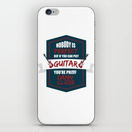 Awesome & Trendy Tshirt Designs Nobody is perfect iPhone Skin