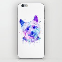Yorkshire terrier Watercolor, Yorkshire terrier Painting, Yorkshire terrier Portrait, Yorkshire art iPhone Skin