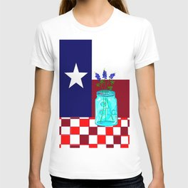 Texas Flag and Blue Bonnets T-shirt