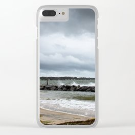 Yorktown Beach post Florence 2 Clear iPhone Case
