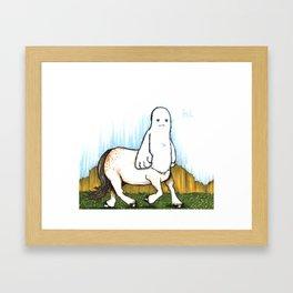 Centaur yeti Framed Art Print