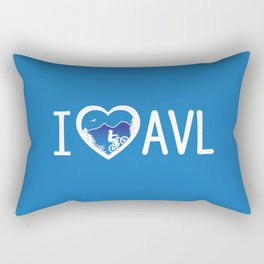 I Love Asheville - Mountain Biking - AVL 4 Blue Rectangular Pillow