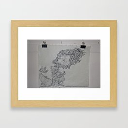 Ink & Pencil Framed Art Print
