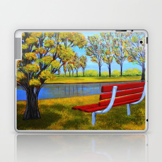 The red bench  Laptop & iPad Skin