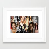 blair waldorf Framed Art Prints featuring Leighton Meester / Blair Waldorf by Amara V