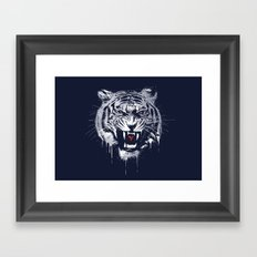 Melting Tiger Framed Art Print