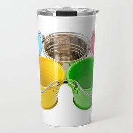 Colorful buckets Travel Mug