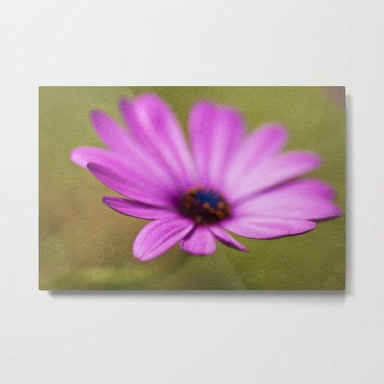 Purple Textured Flower II Metal Print