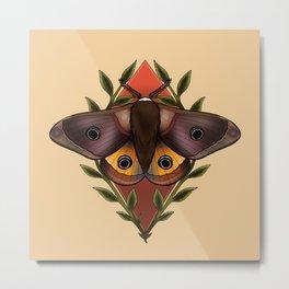 Moths Are Rad Metal Print