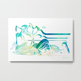 Wild and Free from Mountain to Sea Metal Print
