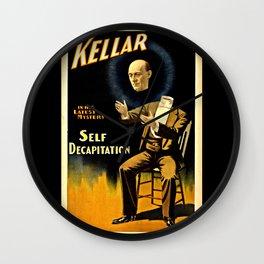 Kellar Self Decapitation Wall Clock