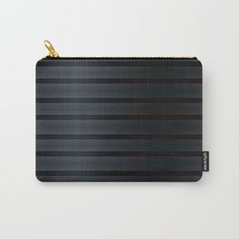 Black Silk Stripes Carry-All Pouch