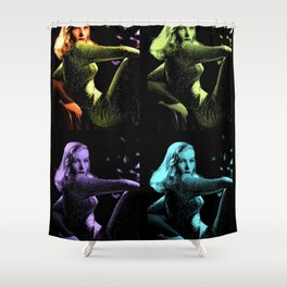 Veronica Lake Pop-art Art Print by Jéanpaul Ferro Shower Curtain