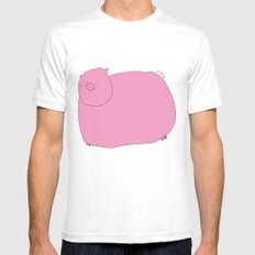 Pig White MEDIUM Mens Fitted Tee