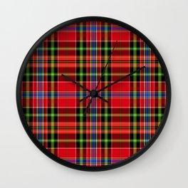 TARTAN red TARTAN Wall Clock