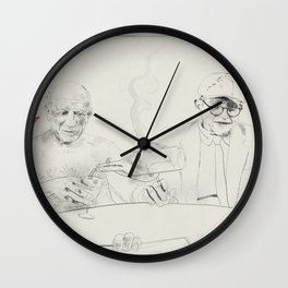 Picasso and Hockney Wall Clock