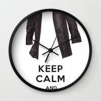 kansas Wall Clocks featuring Kansas by Tori Gabrielle Rudman