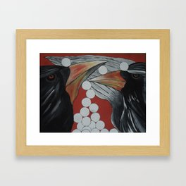 Play with the Crow Framed Art Print