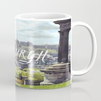 edinburgh Mugs featuring Edinburgh by KidoKido