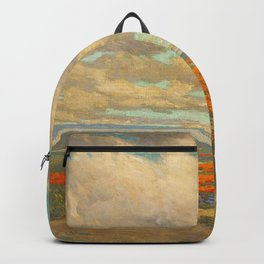 1911 Granville Redmond - A Field of California Poppies Backpack