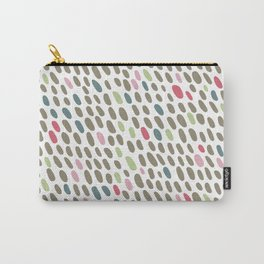 Abstract Dots Pattern Pastel Grey, Pink, Blue, Green Carry-All Pouch