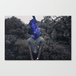 Overthinking may cause smoking Canvas Print