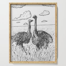 Two Ostriches Serving Tray