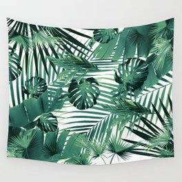 Tropical Jungle Leaves Siesta #5 #tropical #decor #art #society6 Wall Tapestry