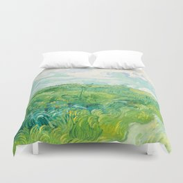 Green Wheat Fields - Auvers, by Vincent van Gogh Duvet Cover