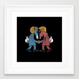 Lie vs Lie Election Addition Framed Art Print