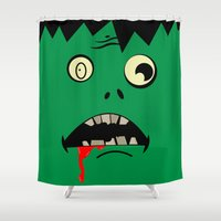 zombie Shower Curtains featuring Zombie  by WTF-Arts