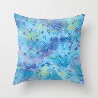 hologram Throw Pillows featuring Hologram by Marta Olga Klara