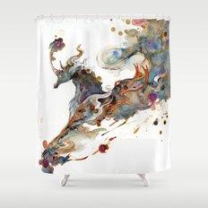Kirin Unicorn Shower Curtain