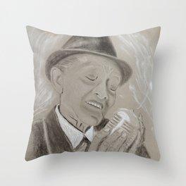 Jimmy Scott Throw Pillow