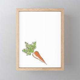 Keep Calm Carrot Vegetable Vegetarian Gift Framed Mini Art Print