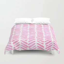 Handpainted Chevron pattern - pink and pink ;) Duvet Cover