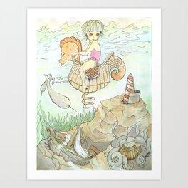 Underwater Dreams Art Print