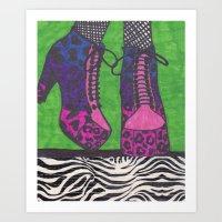 Fancy Shoes Art Print