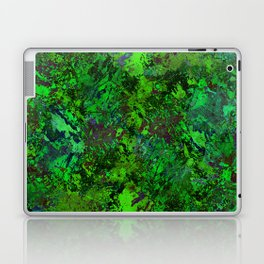 Lost In The Jungle - Abstract, green, jungle, foliage, leaves, forest themed artwork Laptop & iPad Skin