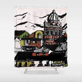 Cuzco - Peru cityview landscape Shower Curtain