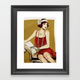Flapper Girl #2 Framed Art Print