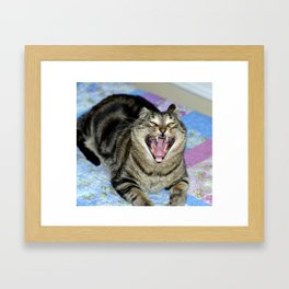 EBIL KITTEH Framed Art Print