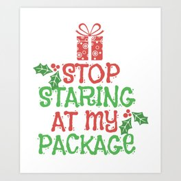 Christmas Gifts Packages Kids Funny Shirt Art Print