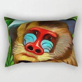"Henri Rousseau ""Mandrill in the jungle"" Rectangular Pillow"