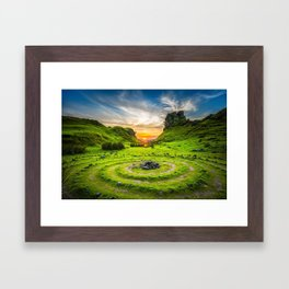 Fairytale Landscape, Isle of Skye, Scotland Framed Art Print