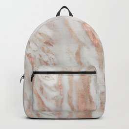 Rose Gold and White Marble 1 Backpack