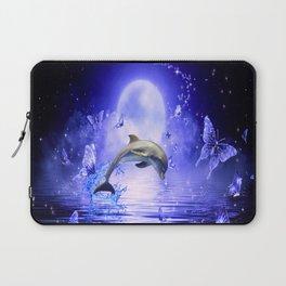 Dolphin & Butterflys Laptop Sleeve