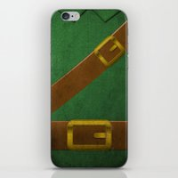video game iPhone & iPod Skins featuring Video Game Poster: Adventurer by Justin D. Russo
