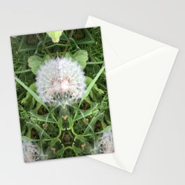 Green Bird (with Fascinator) Stationery Cards